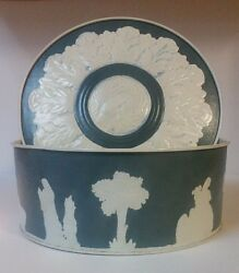 Vintage Collectible Wedgewood Style Smith Crafted Chicago Ward Baking Co. Tin