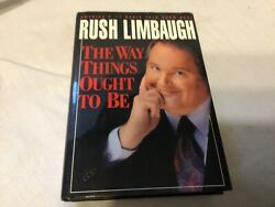 The Way Things Ought To Be By Rush Limbaugh 1992 Hardcover- Like New Condition