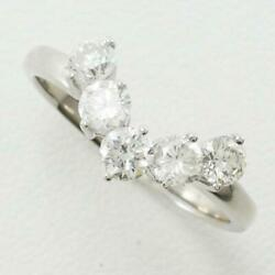 Jewelry Platinum 900 Ring 16japan Size Diamond 1.04 About4.2g Free Shipping Used
