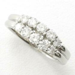 Jewelry Platinum 900 Ring 15japan Size Diamond 0.81 About6.2g Free Shipping Used
