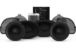 Hd14cvo-stage2 Speaker And Amp Fits 2014+ Harley Davidson Road And Street Glide Cvo