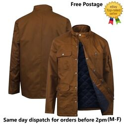 Mens Army Combat Military Style Long Sleeve Lightly Padded Jacket Ex Uk Chain