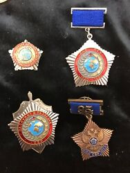 Russian Foreign Intelligence Service Svr Awards - 4 Rare Badges