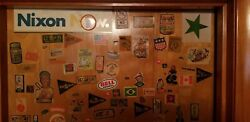 Vintage Wooden Door Baseball Stickers Mickey Mantle Willie Mays Basketball Rare