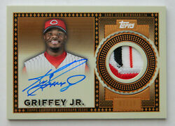 2021 Topps Series 1 Ken Griffey Jr. Reverence Auto 3-color Patch Card 7/10