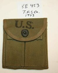 Wwii M1 Carbine Stock Pouch,t.f.s.co.1943 Nos Orig.usgi