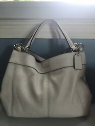 Coach Leather Small Lexy Shoulder Bag White Chalk $70.00