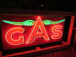 New Flying A Gas Neon Sign - 59w X 29h - Neon Signs - Lifetime Warranty
