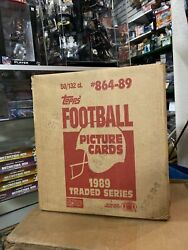 1989 Topps Traded Football Case Of 50 Sets Factory Sealed Case