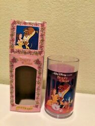 Walt Disney Vintage Beauty And The Beast Burger King Collector Series Plastic Cup