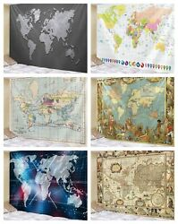 World Map Antique Decoration Tapestry Wall Hanging Tapestries For Home Decor