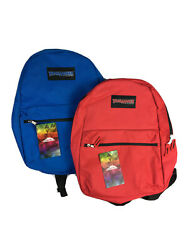 Trailmaker Classic Set 2 Backpacks School Hiking Camping Blue And Red NEW. $18.00