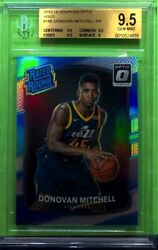 2017-18 Optic Donovan Mitchell Silver Holo Bgs 9.5 Gem Mint Rated Rookie Rc Jazz