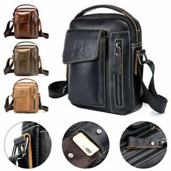 Genuine Leather Shoulder Bag for Men Business Crossbody Messenger Bag Work TOTE $29.90