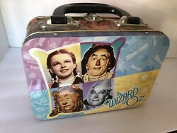 """Wizard Of Oz Mini Lunch Box Collectible Tin W/handle Fits Sandwichand Snack 7""""x5"""""""
