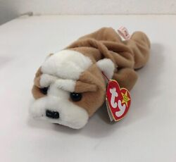 *RARE *VINTAGE Ty Beanie Baby WRINKLES With Tag amp; Case Bulldog 1996