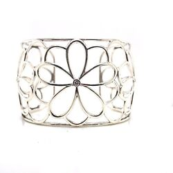 And Co. Sterling Silver Diamond Enchant Flower Cuff Bracelet Discontinued