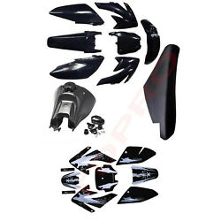 Plastics Fairing And Fuel Tank And Seat And Graphics For Crf70 Dirt Pit Bike 125cc 150