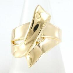 Jewelry 18k Yellow Gold Ring 16japan Size About9.6g Free Shipping Used