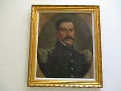 Antique Portrait Military Soldier Officer Famous Estate Heirloom 19th Century