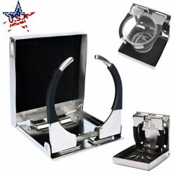 Stainless Steel Adjustable Folding Cup Drink Holder For Marine Boat Truck Car Us