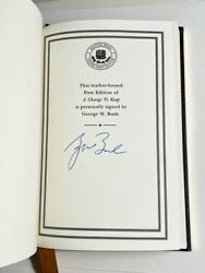 President George W. Bush Signed Easton Press First Edition A Charge To Keep.