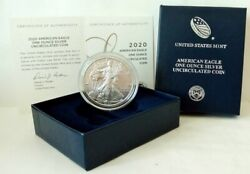 Former Box With Coa 2020 Us Us Eagle 1 Dollar 1 Ounce Proof Silver Coin