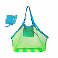 Mesh Beach Bag 2020 New Extra Large Beach Bags and Totes Tote Backpack Toys Tow $13.61
