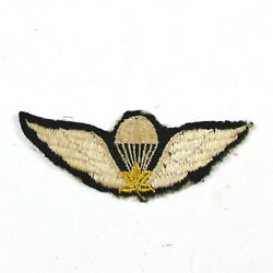 Ww2 Or 1950 Canadian Airborne Jump Wings Embroidered Badge Insignia Paratrooper