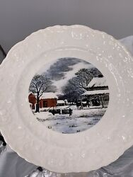 Rose Point Plate By Steubenville Pope-gosser China 1950s Vtg 10 Hand Crafted