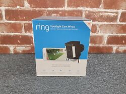 Brand New Ring Spotlight Cam Security Camera Black Wired - 1 Year Warranty