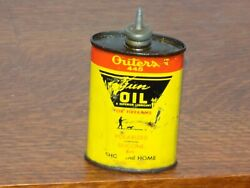 Vintage Outers 445 Gun Oil Lead Top 3 Ounce Empty Can