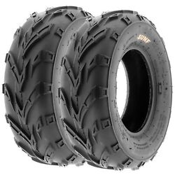 Pair Of 2 16x6-8 16x6x8 Quad Atv All Terrain At 6 Ply Tires A004 By Sunf