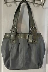 COACH Bag Purse Gray Leather FREE SHIPPING $38.00