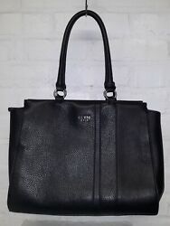Guess Large Black Satchel Bag Purse With Charm $25.00