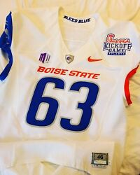 Sheffield 2011 Boise State Broncos Nike Pro Combat Kick Off Game Used Jersey