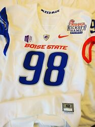 Worthy 2011 Boise State Broncos Nike Pro Combat Kickoff Classic Game Used Jersey