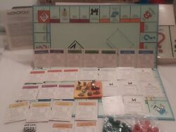 Monopoly Board Game Complete Vintage 1973 Parker Brothers With Battleship Piece