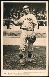 1912 Underwood And Underwood 737 Hick Cady Red Sox Postcard. Rare