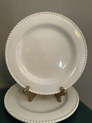 Perola White By Matceramica Dinner Plates Set Of 2