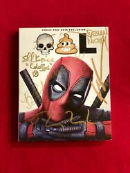 Deadpool Sdcc 2016 Blu Ray Signed Ryan Reynolds Stan Lee Rob Liefeld + More
