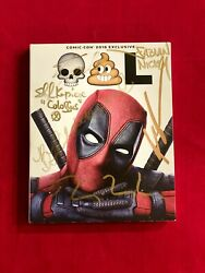 Deadpool Sdcc 2016 Blu Ray Signed Ryan Reynolds, Stan Lee, Rob Liefeld + More
