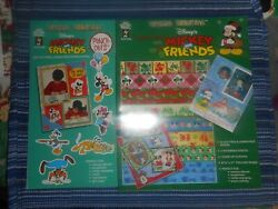 Paper Pizazz Mickey And Friends Punch Outs And Christmas Scrapbook Papers