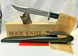 Collectible Buck 120 Fixed Blade Knife W/ Sheath Paperwork Box Hunting Survival