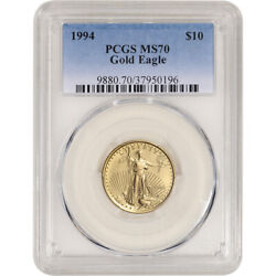 1994 American Gold Eagle 1/4 Oz 10 - Pcgs Ms70