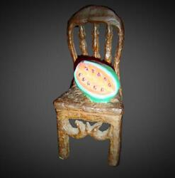 Cuba Mexico Miguel Cubiles Bronze Chair And Watermelon Silla And Sandia Sculpture.