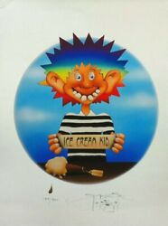 Stanley Mouse - Ice Cream Kid Giclee Print 17 X 23 Signed Le/500 Grateful Dead