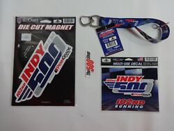 Fan Pack 2018 Indy 500 Event Key Strap Lanyard Decal Die Cut Magnet