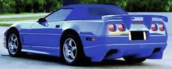 91-96 Corvette C4r 12 Piece Ground Effects W/wing And Tunnel Kit