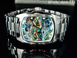 Menand039s 47mm Grand Lupah Abalone Dial Silver Tone Special Edition Ss Watch